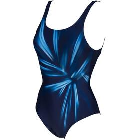 arena Blossom U Back One Piece Swimsuit Women, blauw